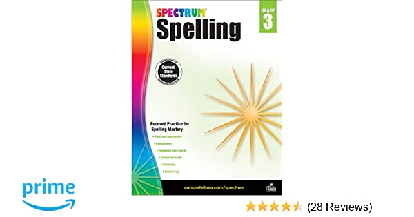 Carson Dellosa Spectrum Spelling Workbook Grade 3 Spectrum