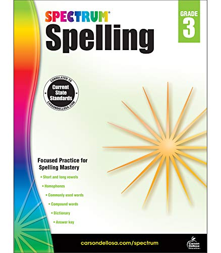 Carson-Dellosa Spectrum Spelling Workbook, Grade 3