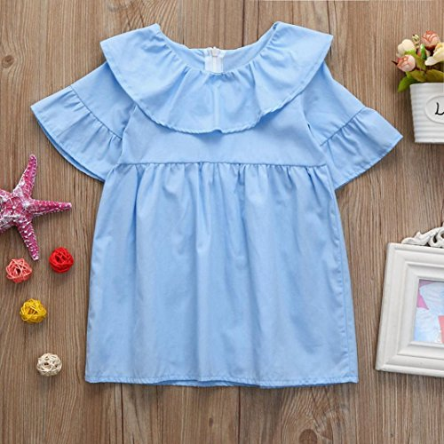 3074a7b07ad2 Winsummer Toddler Kids Baby Girls Boho Ruffle Crochet Flare Sleeve Princess  Dress Summer Sundress Clothes