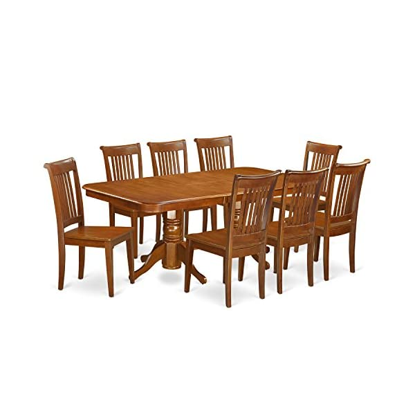 9 Pc Dining room set Table with Leaf and 8 Kitchen Dining Chairs