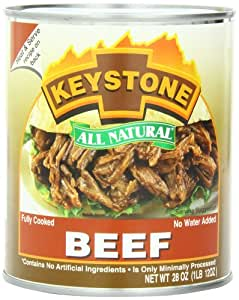 Keystone Meats All Natural Canned Beef, 28 Ounce