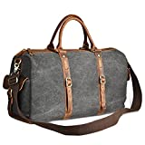 LUXUR Duffle Bag Canvas Travel Tote Shoulder Carry on Bags