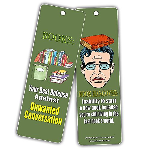 Creanoso Silly Hilarious Literary Bookmarks (60-Pack) – Insanely Funny and Inspiring Bookmarker Cards - Excellent School Teacher Classroom Rewards for Young Readers - Incentive Gifts for Bibliophiles by Creanoso (Image #6)