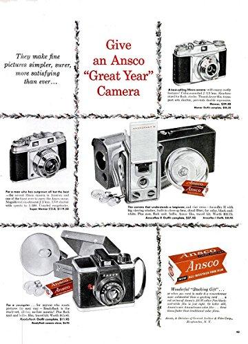 Film Ansco Color (ORIGINAL *PRINT AD* 1956 ANSCO CAMERAS & FILM