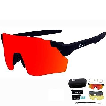 580343b9ae HTTOAR Gafas de Sol Deportivas al Aire Libre protección UV400 Bicicleta Gafas  polarizadas, adecuadas para Ciclismo Gafas béisbol Pesca esquí Correr  Conducir ...