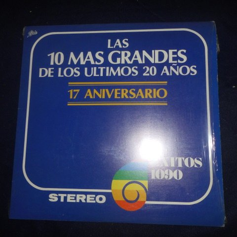 La 10 Mas Grandes de Los Ultimos 20 Aos, Varios.17 Aniversario Exitos 1090 LP Vinyl