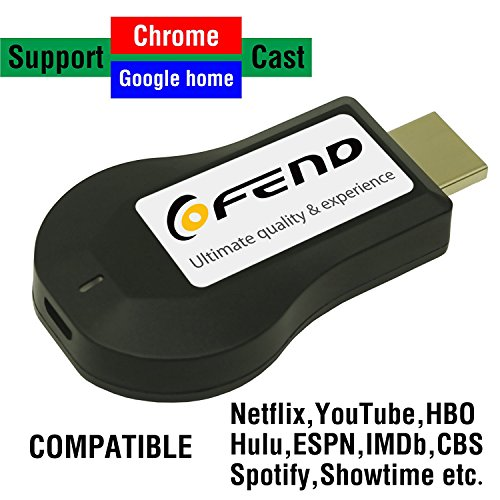 COFEND Wireless HDMI Screen Mirror Dongle WiFi Display TV Dongle Receiver 1080P For iOS Android Windows Mac OSX Support Airplay Miracast DLNA Google Home and Chrome App Cast (Square) by COFEND (Image #7)