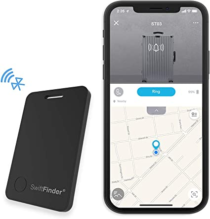 Luggage Tracker Device Anti-Lost Finder with App Control for Suitcase Baggage Key Item Smart Locator with Alarm Bluetooth Tracker Tag