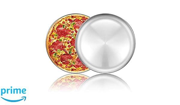 Bandeja redonda para hornear pizza de acero inoxidable de 12 ...