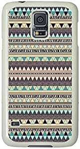 Bright Aztec Pattern Samsung Galaxy S5 Case with White Skin