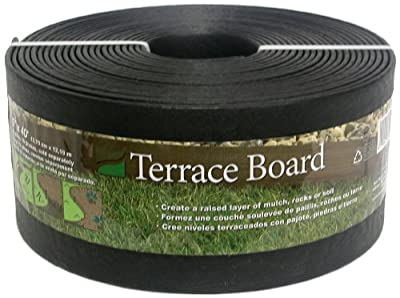 Master Mark Plastics 95440 Terrace Board Landscape Edging Coil 5 Inch by 40 Foot, Black