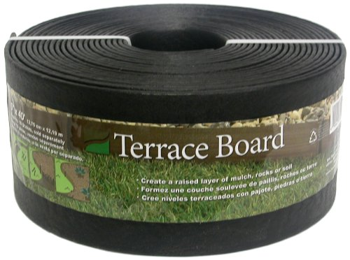 Master Mark Plastics 95440 Terrace Board Landscape Edging Coil  5 Inch by 40 Foot, Black (Master Mark Edging Border)