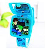 blue Ben 10 Watch Square mirror flip children kids cartoon Watches WP@MYA163693L