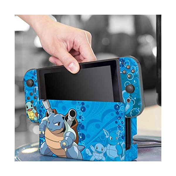 Controller Gear Nintendo Switch Skin & Screen Protector Set - Pokemon - Squirtle Evolutions Set 1 - Nintendo Switch 8
