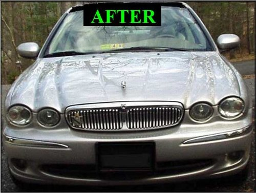 2002 2006 jaguar x type x type chrome grill grille kit. Black Bedroom Furniture Sets. Home Design Ideas