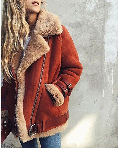 Manteau De Minetom Hiver De Style Parka Chauds Veste Rue Veste Mode Daim Motard Ext Mesdames Femme En qBCExBw6H