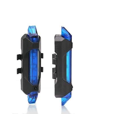 LLLLDDLLLDM Luz Trasera de Bicicleta, Luz Trasera para Bicicleta Recargable USB Potente IPX4 Impermeable,Linterna Bicicleta 4 Modos de Brillo,Fácil de Instalar Seguridad Ciclismo