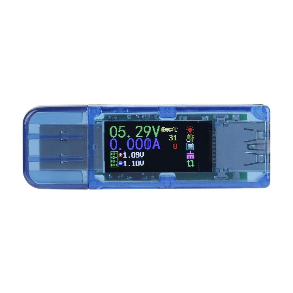 USB Voltage Tester RuiDeng AT34 USB 3.0 Color LCD Voltmeter Ammeter Current Meter Multimeter Charger USB Tester