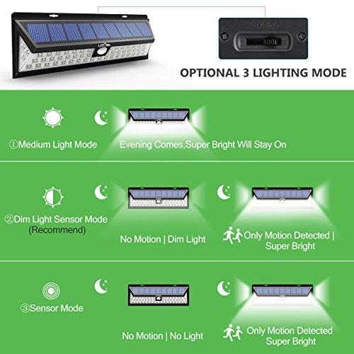 Litom Super Bright Solar Lights 54 LED Solar Power Outdoor Motion Sensor Light With LED on Both Side by Litom (Image #1)