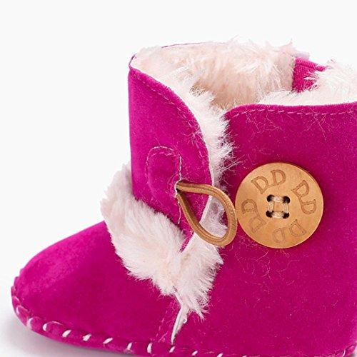 Clode® Nette Junge Mädchen Baby Weiche Sohle Schneeschuhe Weiche Krippe Schuhe Kleinkind Stiefel Hot Pink