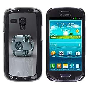 Be Good Phone Accessory // Dura Cáscara cubierta Protectora Caso Carcasa Funda de Protección para Samsung Galaxy S3 MINI NOT REGULAR! I8190 I8190N // Abstract Metal Art