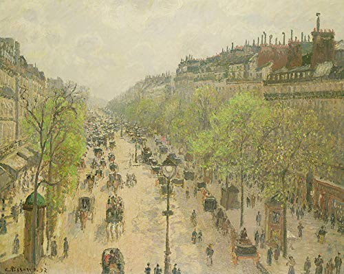 - Camille Pissarro Boulevard Montmartre, Morning, Grey Day Private Collection 30