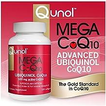 Qunol Mega CoQ10 Softgels, 100 Mg, 120 Count Single & Multi Packs (Two Bottles each of 120 Softgels)