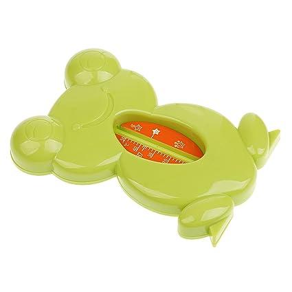 Gazechimp Termómetro de Bañera Juguetes de Baño Ducha para Bebés Forma de Rana - Verde