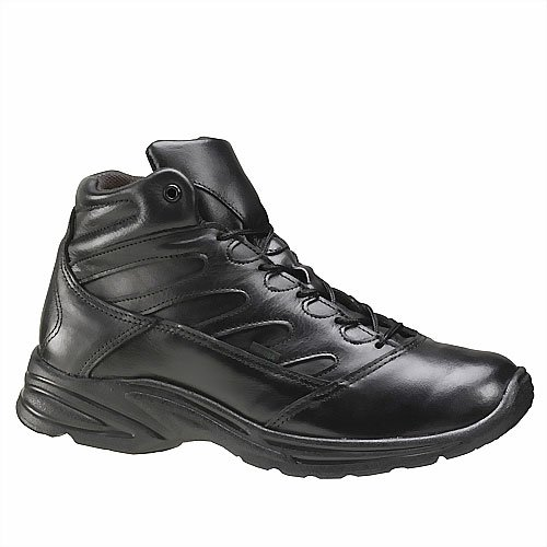 Thorogood Rubber Sole Slip Resistant Work Athletics Shoes Uniform Plain Toe 10.5 D, M US Men Black (Athletic Uniform Slip Resistant)
