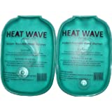 HEAT WAVE Instant Reusable Heat Pack - HAND WARMERS (2) = 1 PAIR HEAT WAVE BRAND - Premium Quality - Medical Grade - Made in USA - (not China)