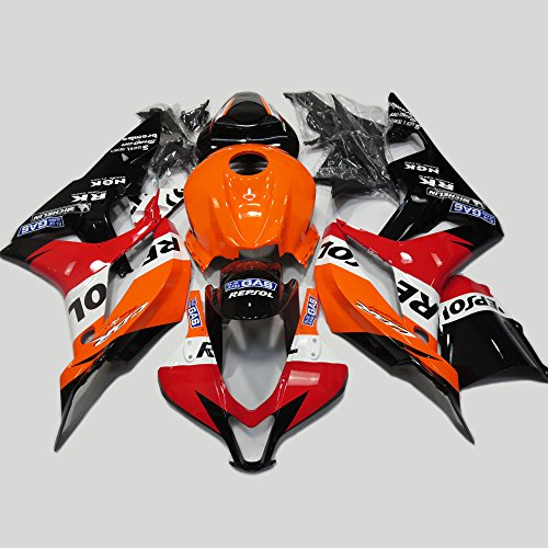 Honda Cbr Repsol - ABS Injection Molding - Orange Edition Repsol Fairing Kit for 2007 2008 Honda CBR 600 RR F5