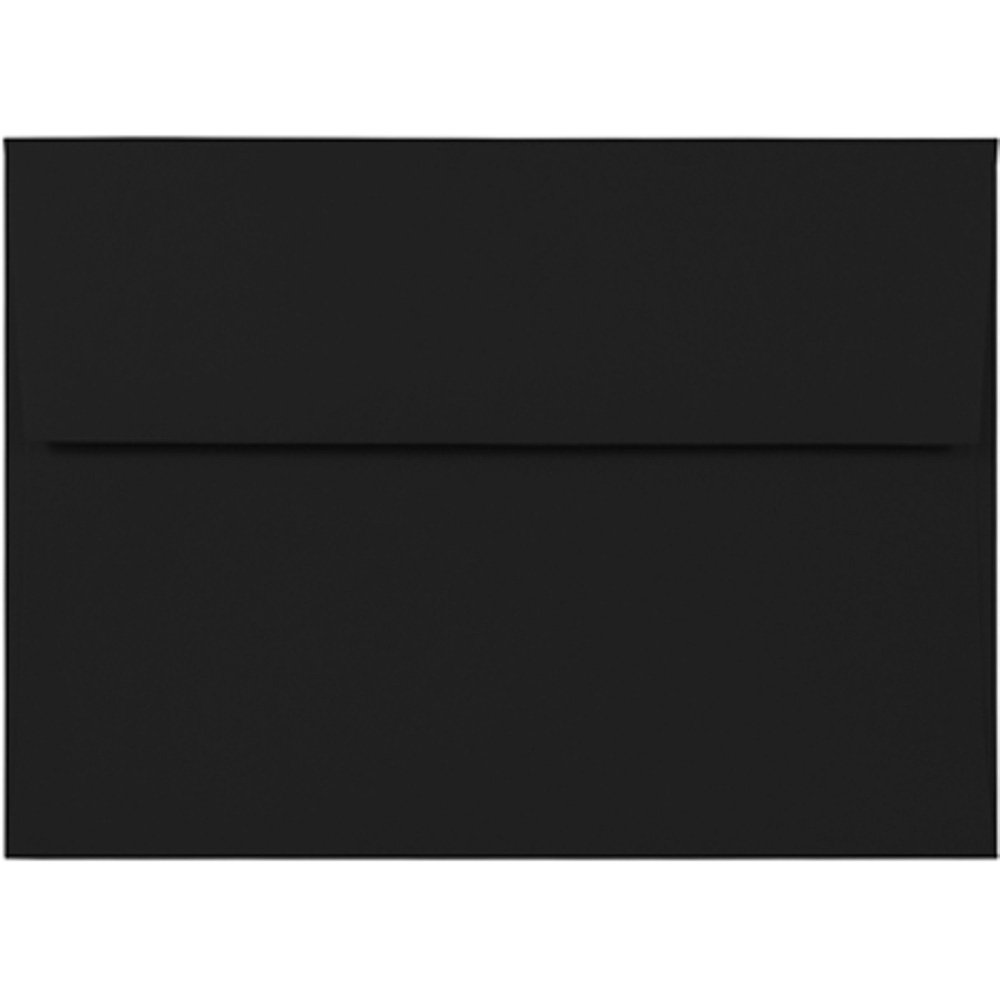 JAM Paper A7 Invitation Envelopes - 5 1/4'' x 7 1/4'' - Smooth Black - 50/Pack