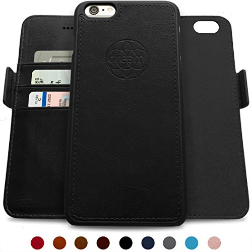 (Dreem iPhone 6/6s Plus Wallet Case with Detachable SlimCase, Fibonacci Luxury Series, Vegan Leather, RFID Protection, 2-Way Stand, Gift Box -)