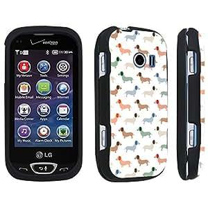 DuroCase ? LG Extravert 2 Hard Case Black - (Dachshund Puppy)