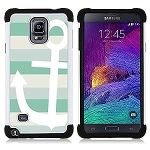 """Samsung Galaxy Note 4 IV / SM-N910 - 3 en 1 impreso colorido de Altas Prestaciones PC Funda chaqueta Negro cubierta gel silicona suave (Sun Summer Sailing Boat Lines"""")"""