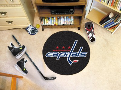 Coir Nhl Door Mat - Fanmats Washington Capitals Puck Floor Mat
