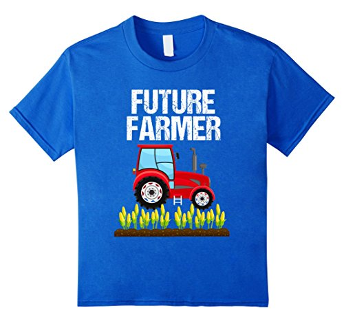 Truck Driver Costume Toddler (Kids Future Farmer Red Tractor and Corn T-Shirt Toddlers Adults 4 Royal Blue)