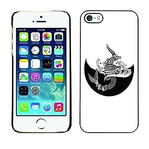 SoulCase / Apple Iphone 5 / 5S / Horoscope Zodiac Capricorn Tattoo Original / Slim Black Plastic Case Cover Shell Armor