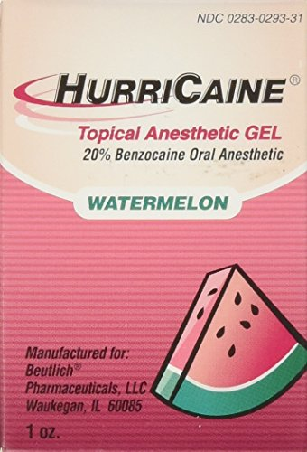 Beutlich LP Pharmaceuticals Hurricaine Topical Anesthetic Gel, Watermelon, 1 Ounce