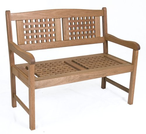Amazonia Porto 1-Piece Patio 2-Seats Bench | Eucalyptus Wood | Ideal for...