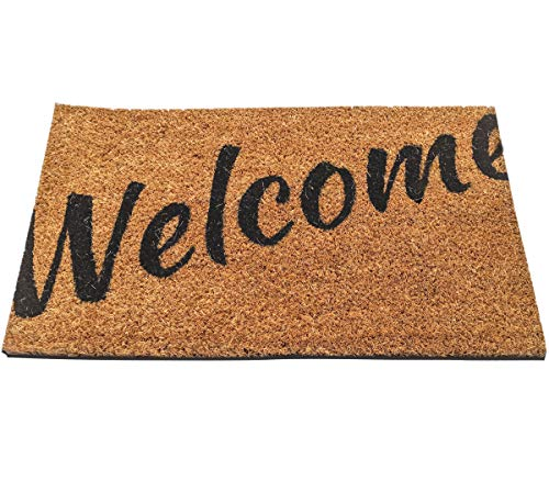 Ninamar Door Mat Welcome Natural Coir - 29.5 x 17.5 inch ()