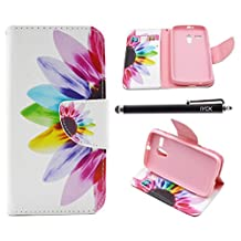 Moto G Case (1st Gen), iYCK Premium PU Leather Flip Folio Carrying Magnetic Closure Protective Shell Wallet Case Cover for Moto G (1st Gen) with Kickstand Stand - Colorful Flower