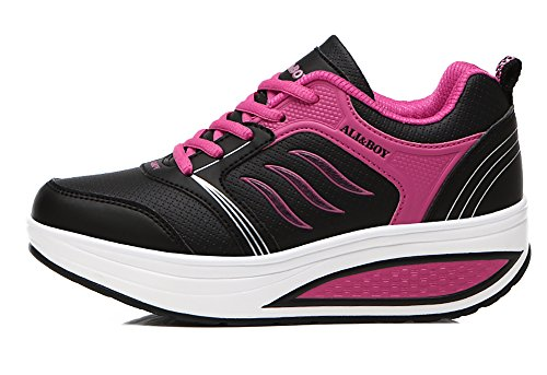 N.66 Scarpe Da Donna Da Città Con Scarpe Da Corsa Moda Sneakers Da Jogging Us5,5-8,5 Nero