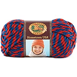 Lion Brand Yarn 135-601 Hometown Yarn, Jayhawks (1 Skein)