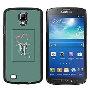 TECHCASE---Cubierta de la caja de protección para la piel dura ** Samsung Galaxy S4 Active i9295 ** --El amor de San Valentín Arte floral Locked