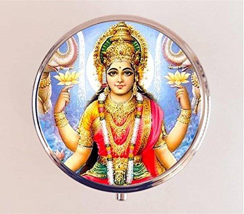 Lakshmi Pillbox Case Holder Trinket Box Hindu God Hinduism New Age Spirituality (New Trinket)