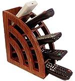 ITOS365 Wooden Remote Control Storage Holder Stand Organizer Rack