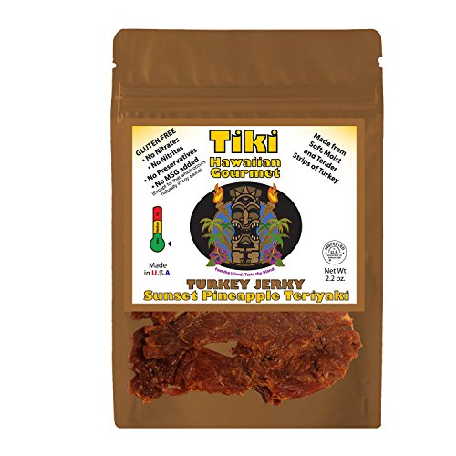 Tiki Hawaiian Gourmet Jerky | Sunset Pineapple Teriyaki (Turkey Teriyaki Marinade)