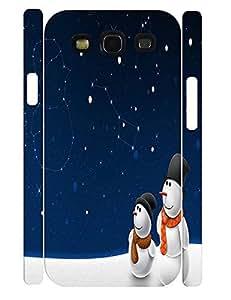 Beautiful Elegant Snowman Pattern Rugged Phone Dust Proof Case for Samsung Galaxy S3 I9300