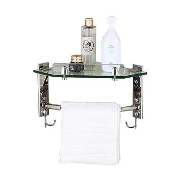 Amazon.com: DaFei - Estante de barra de ducha de acero ...